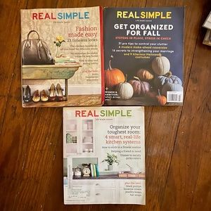 3 piece set - Real Simple magazines